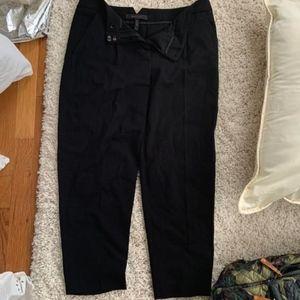 bcbgmaxazria cropped black dress pants